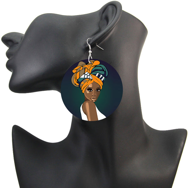 Headwrap girl | African inspired earrings