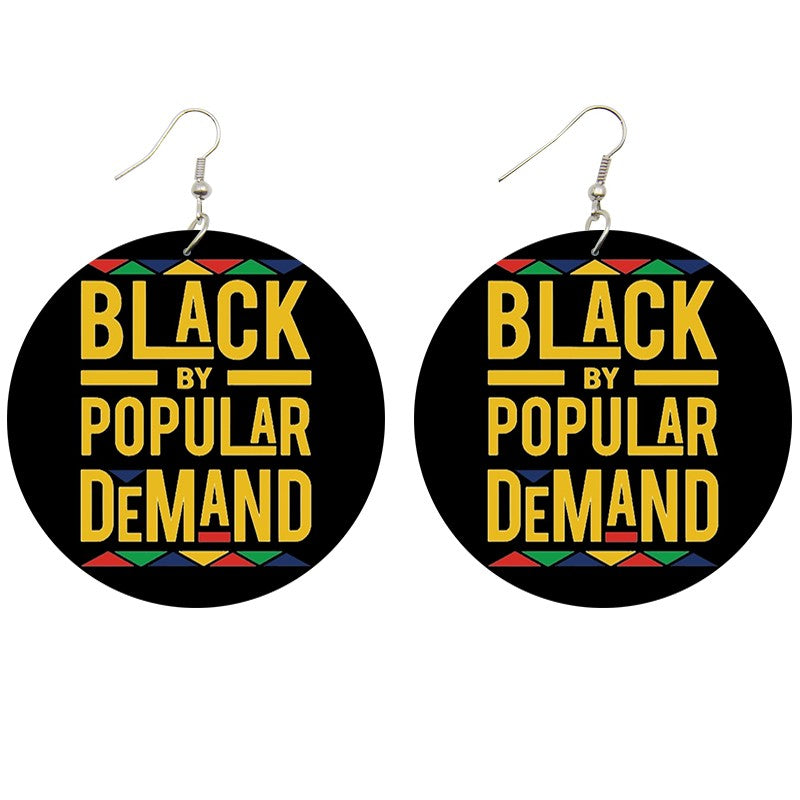 Black by popular demand | African inspired earrings