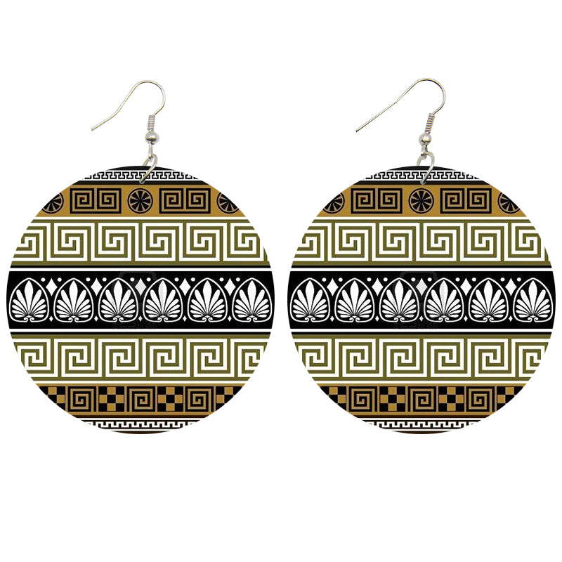 Olive ancient shapes | African inspired earrings