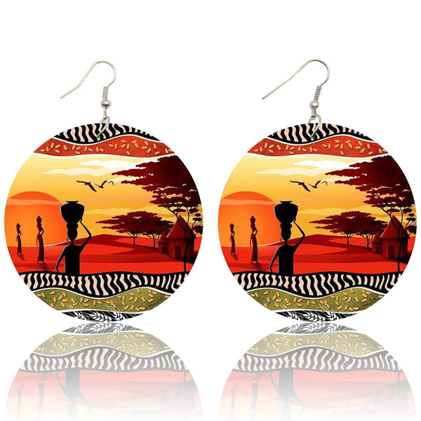 African Sunset | African inspired earrings