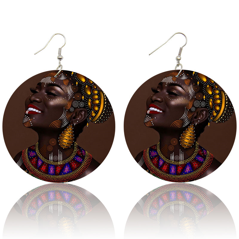 Traditional Portrait | African inspired earrings