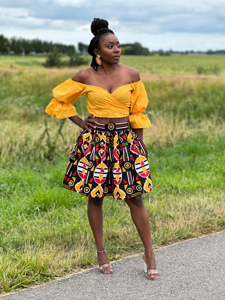 African print Red Samakaka Two Piece set / Co-ord set