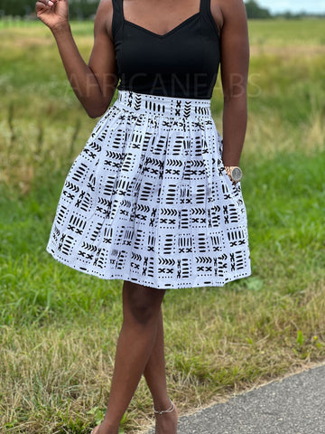 African print Purple / blue Pencil Two Piece set / Co-ord set