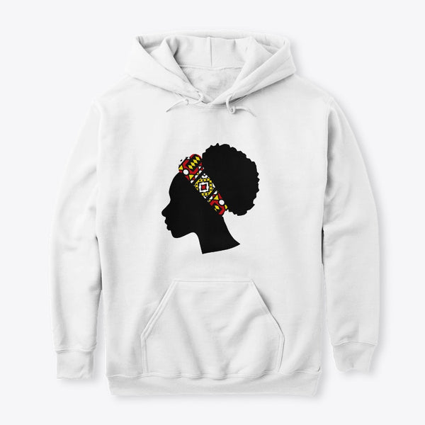 Hoodie / Sweater (Unisex) - Head with Red Samakaka Headband (White & Red)