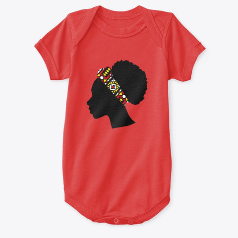 Baby Onesie - Head with Red Samakaka Headband (Multiple Colors)