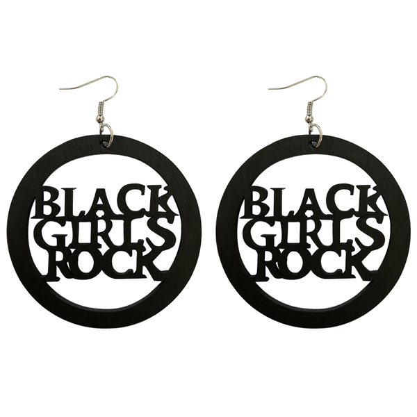 African earrings, wooden earrings | Black girls rock 6cm