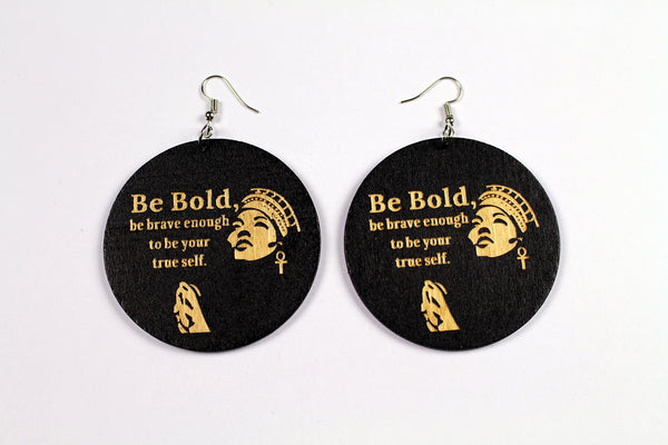 African black wooden earrings  | BE BOLD