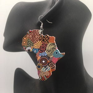 Africa inspired earrings | African continent Tribal
