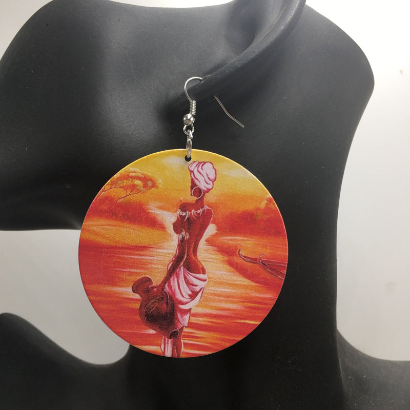 Africa inspired earrings | African River Woman