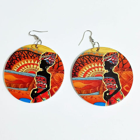 Africa inspired earrings | African Stylish Woman