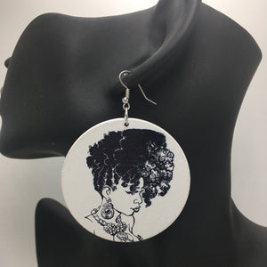 Africa inspired earrings | Kinky Hair