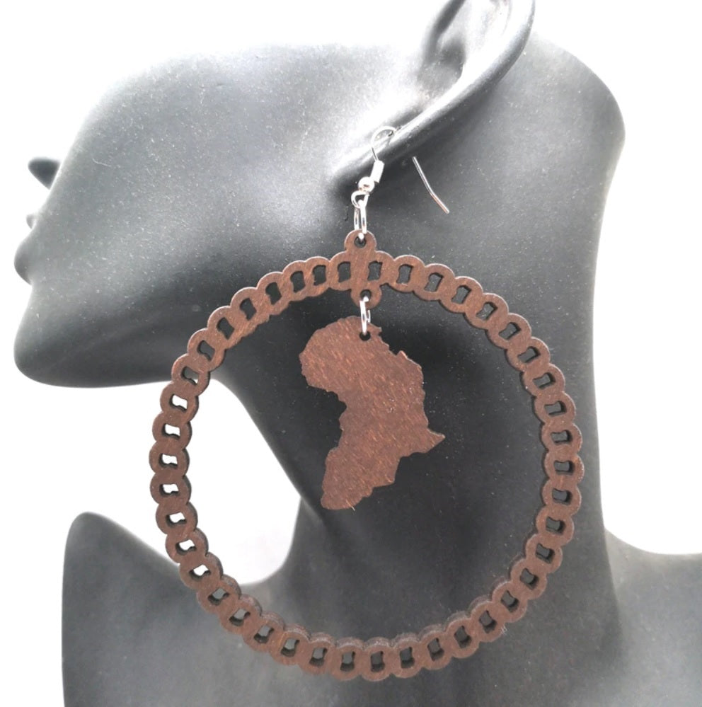 Africa inspired earrings | Small continent of Africa