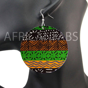 Black / green mud cloth / bogolan | African inspired earrings