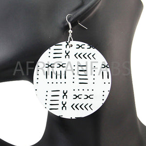 White / black mud cloth / bogolan | African inspired earrings