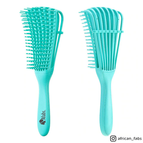 Afabs® Detangler brush | Detangling brush | Comb for curls | Afro hair brush | Green
