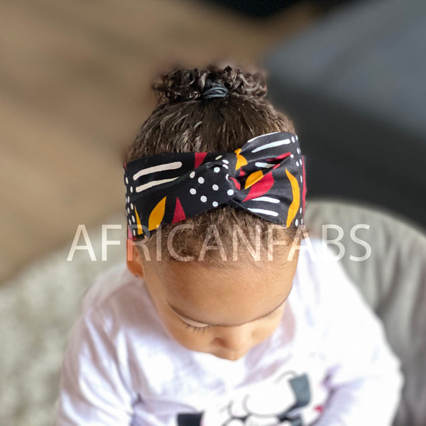 African print Headband - Kids - Hair Accessories - Mud cloth