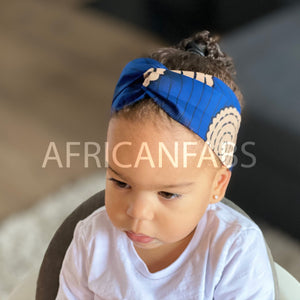 African print Headband - Kids - Hair Accessories - Blue
