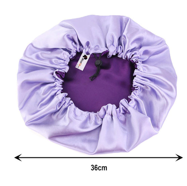 Purple Satin Hair Bonnet ( Reversable Satin Night sleep cap )