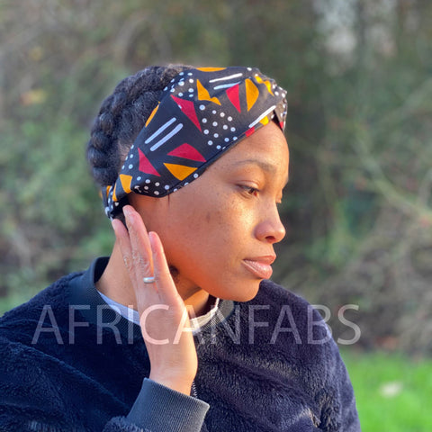 African print Headband - Adults - Hair Accessories - Mud cloth