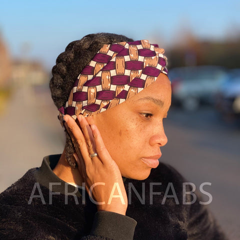 African print Headband - Adults - Hair Accessories - Purple blocks