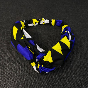 African print Headband - Adults - Hair Accessories - Blue / yellow samakaka