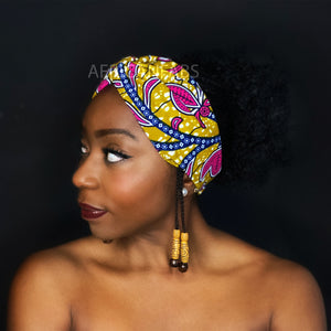 African print Headband - Adults - Hair Accessories - Mustard pink