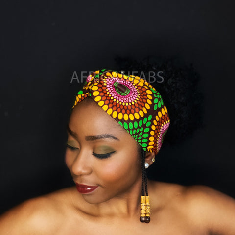 African print Headband - Adults - Hair Accessories - Green yellow