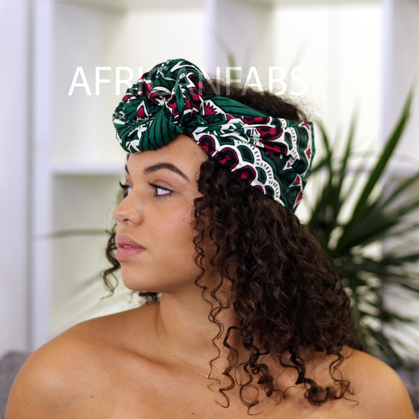 African headwrap red effects
