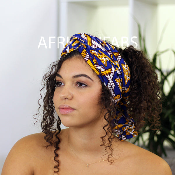 African headwrap red clovers