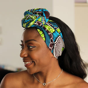 African headwrap - Green circle