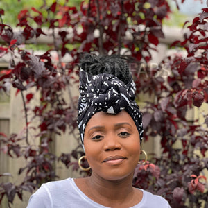 African headwrap - Green waves