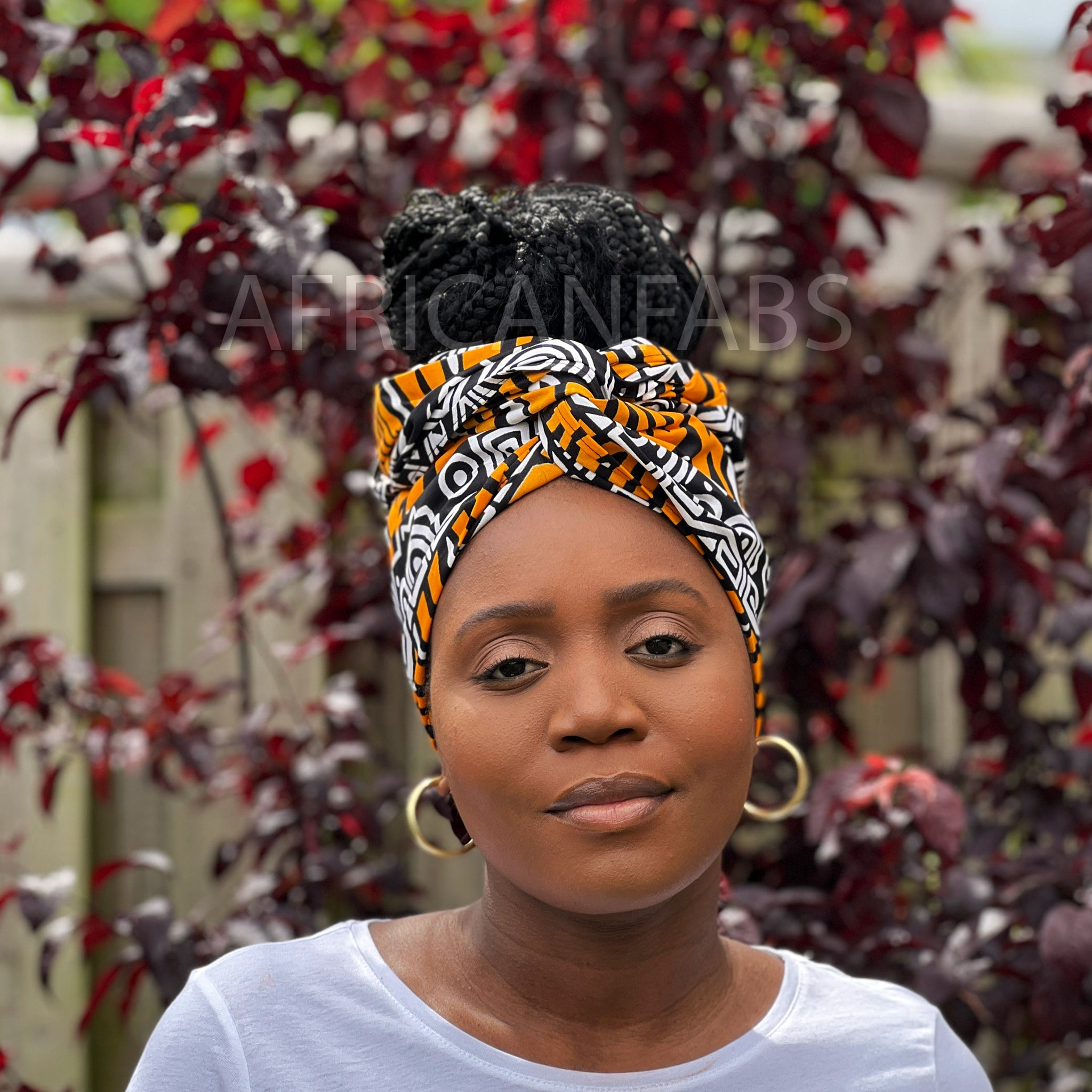 African headwrap - Turquoise blue twister