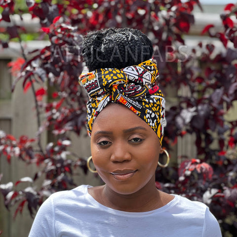 African headwrap - White gift box
