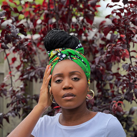 African headwrap - Blue waves