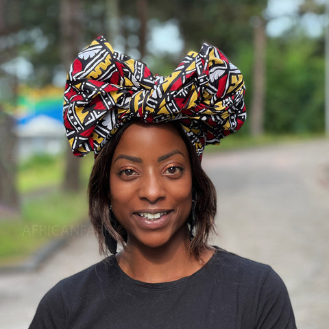 African headwrap - Lime stripes