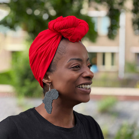 African headwrap - Yellow white waves