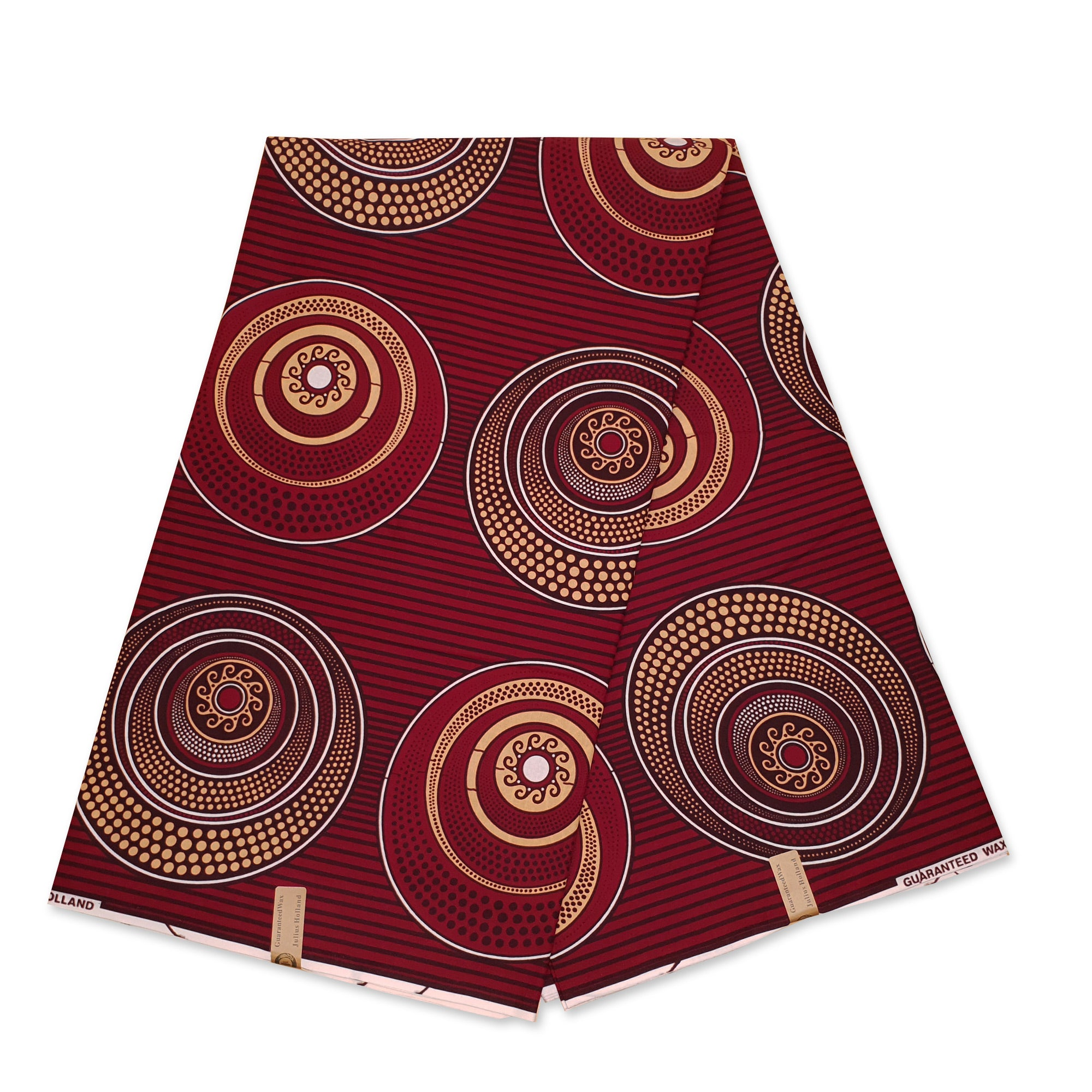 African Wax print fabric Purple / Yellow Circles