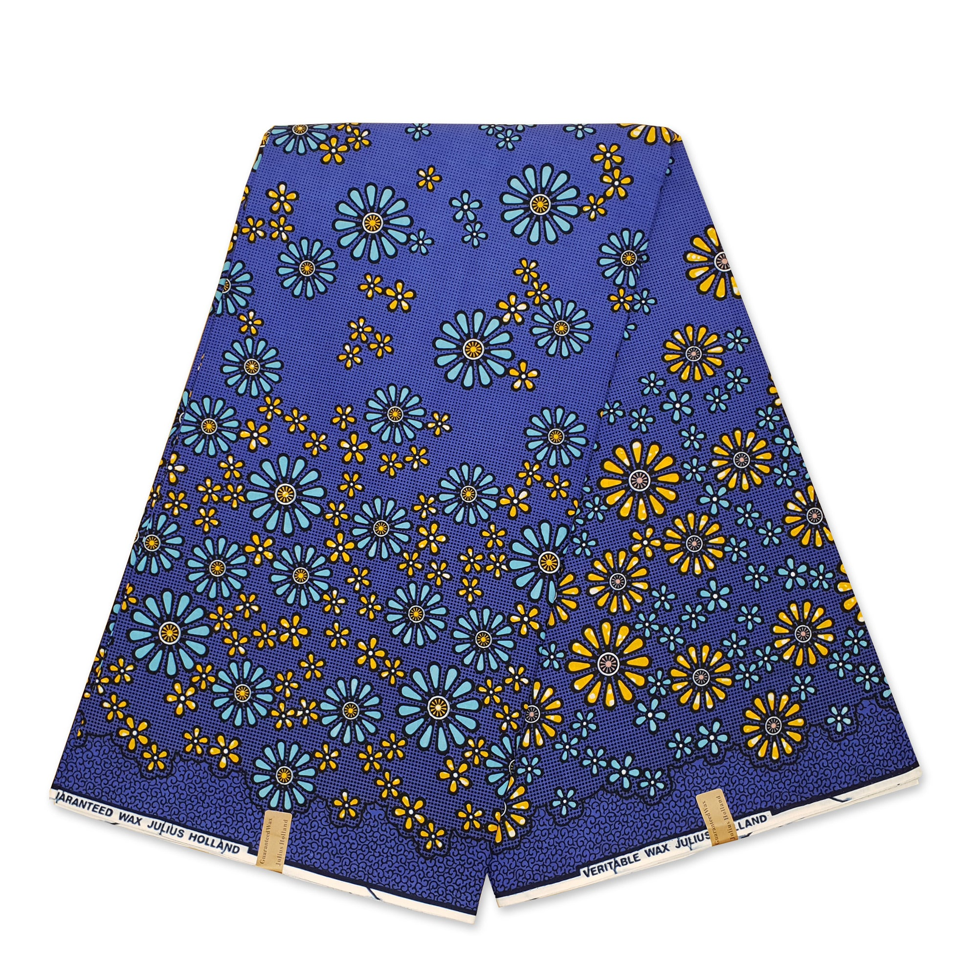 African Wax print fabric - Green yellow fruits