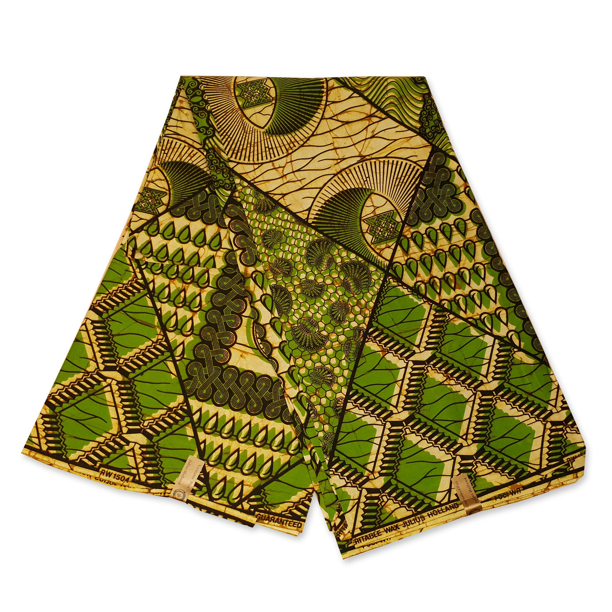African Wax print fabric - Green ancient history