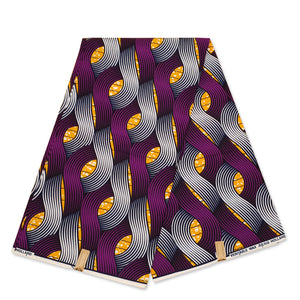 African Wax print fabric - Orange ropes