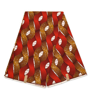 African Wax print fabric - Mustard yellow animal print