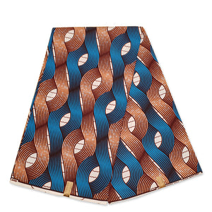 African Wax print fabric - Beige coral roots