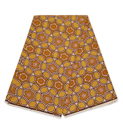 African Wax print fabric - Red / pink tails