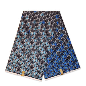 African Wax print fabric - Blue tails