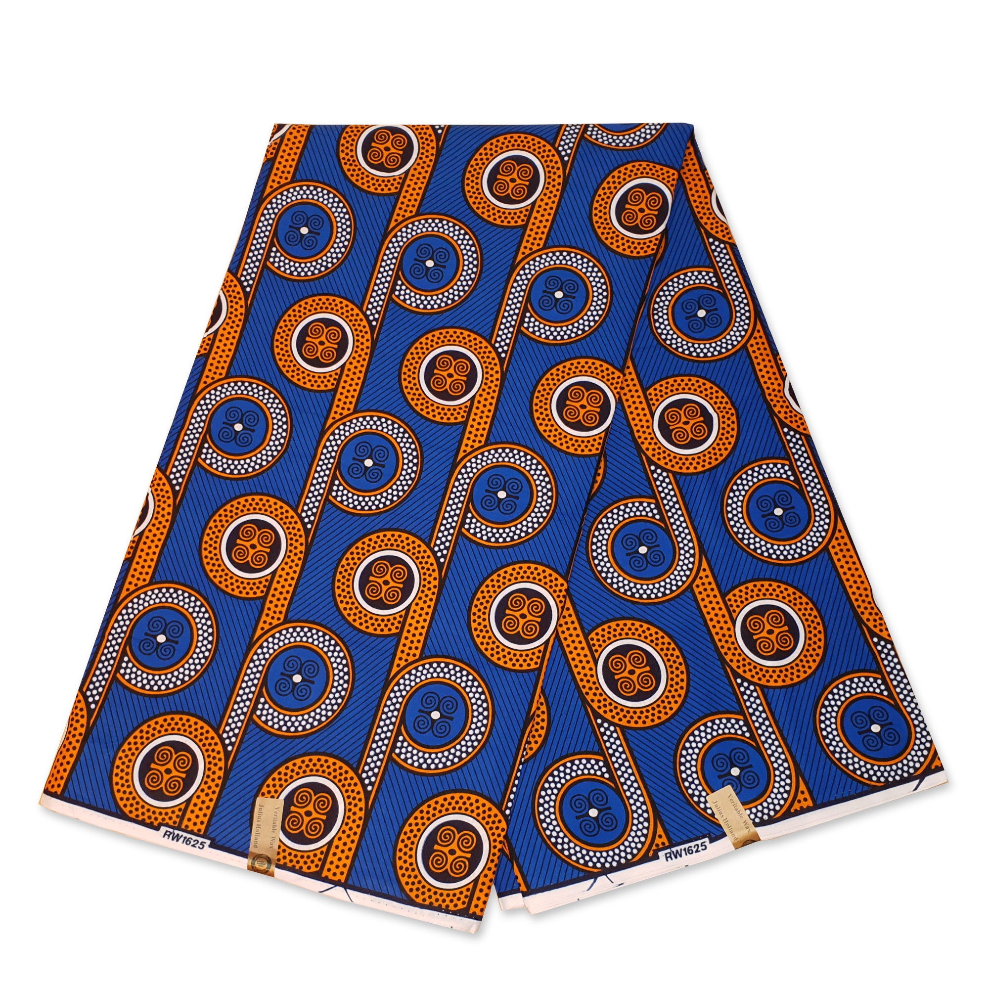 African Wax print fabric - Blue Rolls