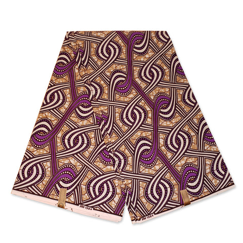 African Wax print fabric - Purple links