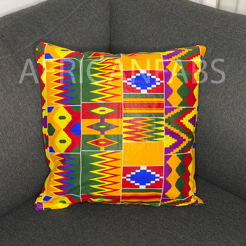 African pillow cover | Kente multicolor - Decorative pillow 45x45cm - 100% Cotton