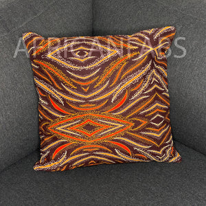 African pillow cover | Orange shades - Decorative pillow 45x45cm - 100% Cotton