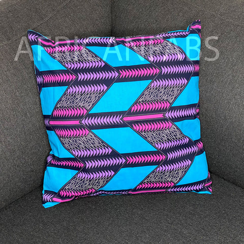 African pillow cover | Pink triangles - Decorative pillow 45x45cm - 100% Cotton
