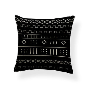 African pillow cover | Black mud cloth / bogolan - Decorative pillow 45x45cm